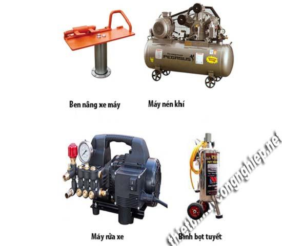 Bộ dụng cụ rửa xe máy không thể thiếu cho các tiệm chuyên nghiệp