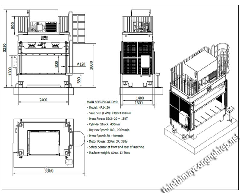 Sơ đồ cấu tạo của sản phẩm nén thủy lực