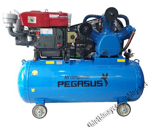 Người dùng có thể lựa chọn máy nén khí có động cơ chạy bằng dầu Diesel