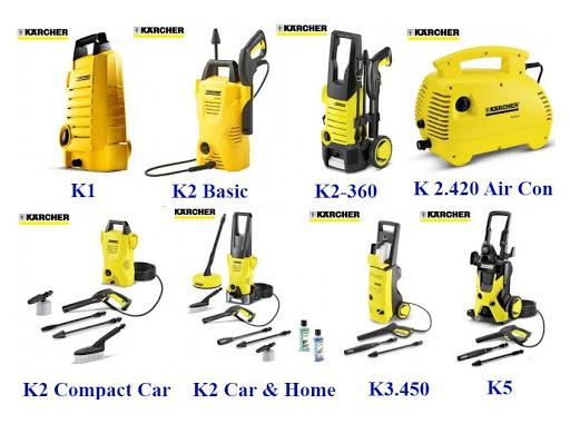 Karcher rất đa dạng công suất phun rửa
