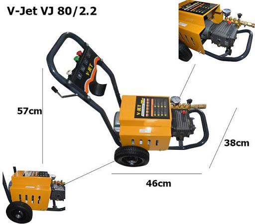 Máy xịt rửa xe V-Jet VJ 80/2.2