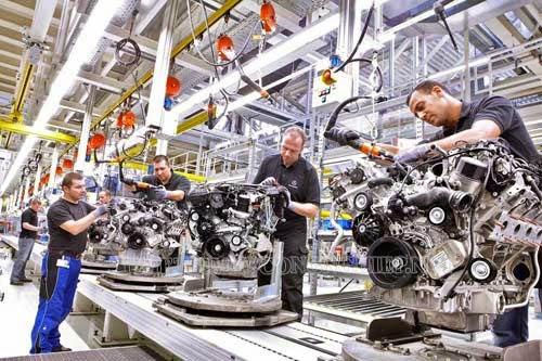 Máy nén khí được ứng dụng trong các ngành sản xuất, chế tạo