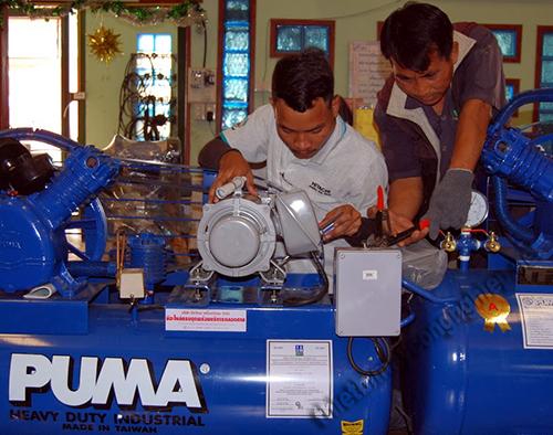 Máy nén không khí được sử dụng để cung cấp khí nén