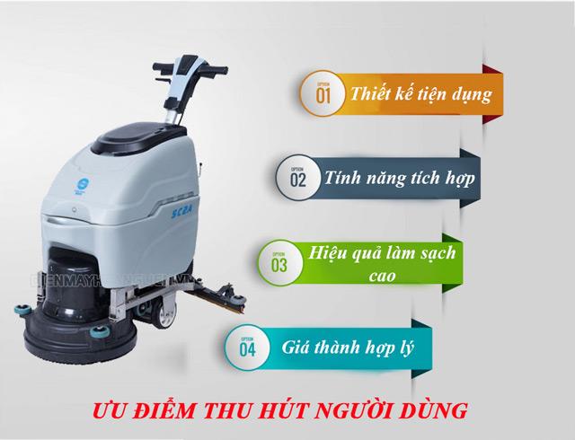 Máy chà sàn thiết bị vệ sinh hiện đại