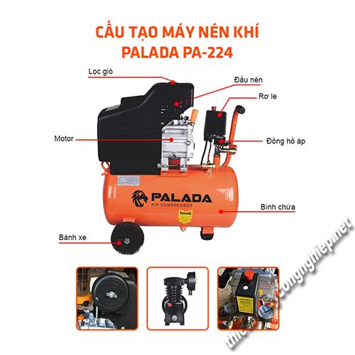Thiết bị nén khí Palada hoạt động với khả năng chống ồn hiệu quả