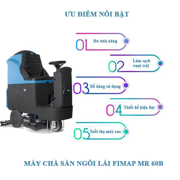 Ưu điểm của máy chà sàn ngồi lái Fimap MR 60B