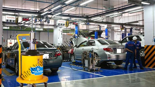 Model PD - 9 được ứng dụng rộng rãi tại các gara rửa xe ô tô chuyên nghiệp