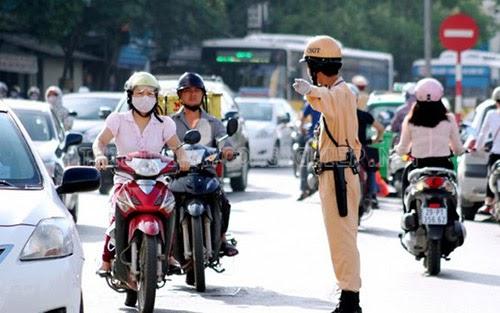 cách đi xe máy không bị công an bắt