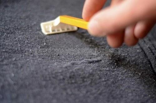 cách làm mới áo dạ bị xù