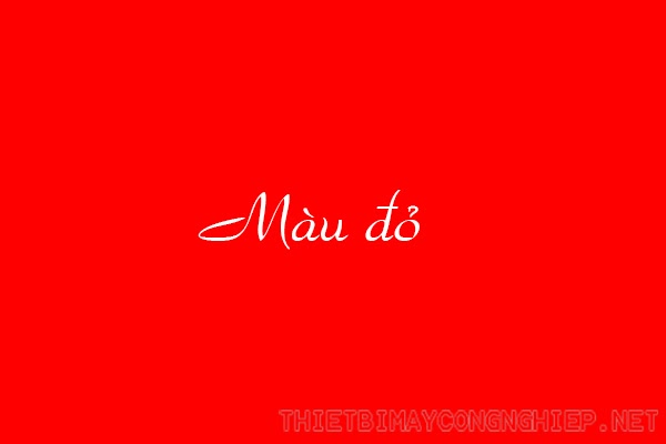 ý nghĩa màu đỏ