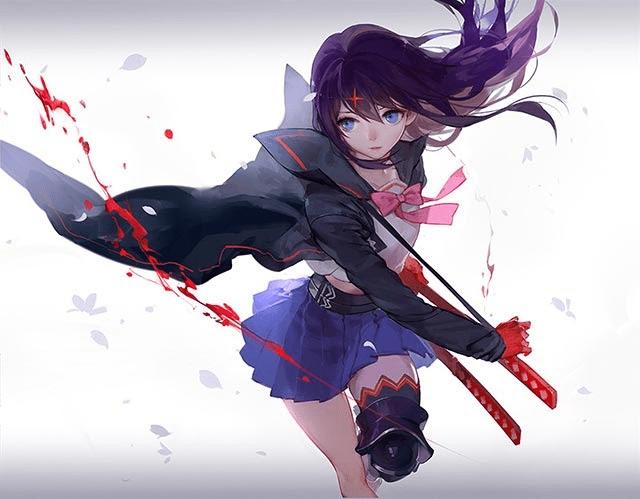 ảnh anime nữ ngầu lạnh lùng