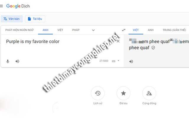 google dịch nói bậy bạ