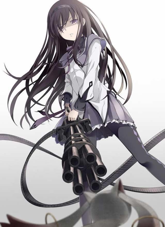 hình ảnh anime nữ ngầu lạnh lùng cầm súng