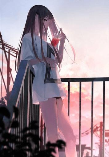 hình anime nữ ngầu buồn