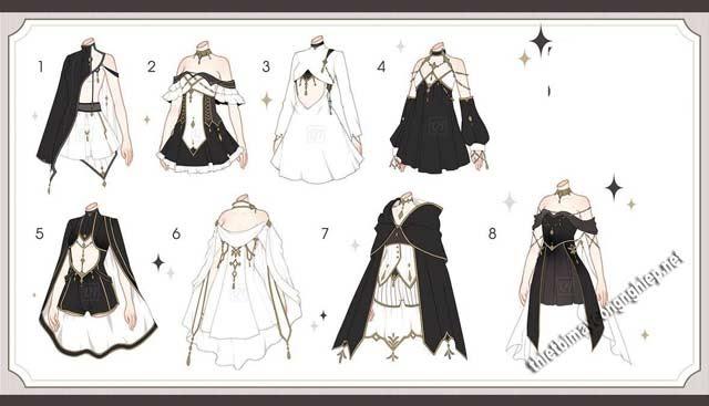 trang phục anime nữ ngầu