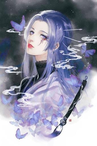 vẽ tranh anime nữ ngầu